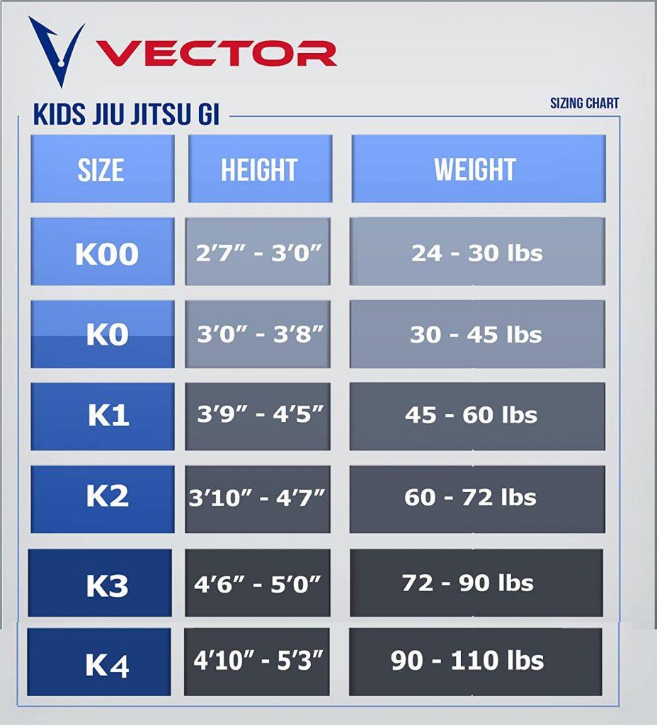judogi azul niño vector
