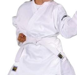 comprar Kwon Karate Basic  Kimono de Artes Marciales Infantil, tamaño 140 cm, Color Blanco
